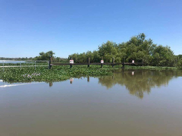 lafitte canal for bass fishing blocked by gate